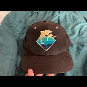 Pink Dolphin SnapBack Hat Black
